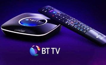 BT UK TV channels updated list and TV subscriptions